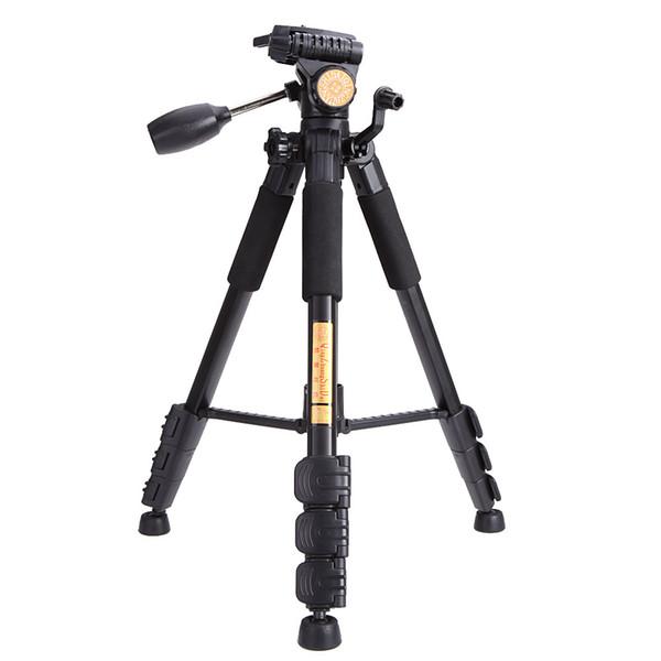 Hohe qualität dhl-freies verschiffen professionelle tragbare mini stativ q111 mit q08 kugelkopf für dslr slr kamera aluminium