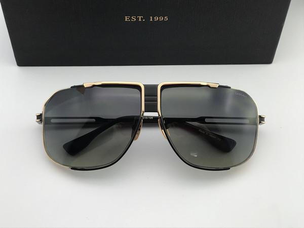 Homens   mulher Quadrado de Ouro   Preto óculos de Sol de Luxo óculos de sol 47fd45f9c3