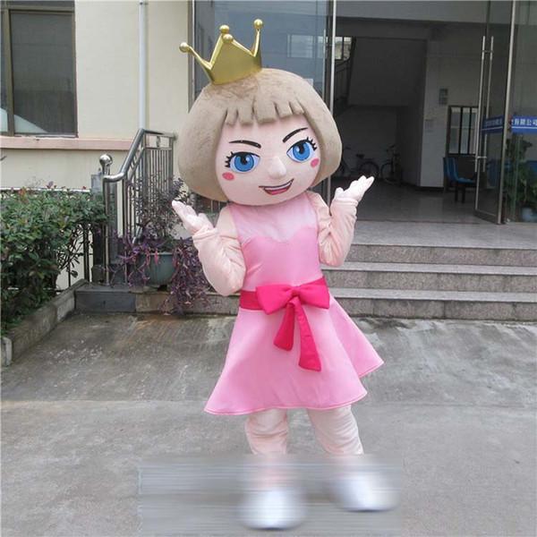 Beautiful Sweetheart Princess queen Walking Cartoon Mascot Costume Halloween Party Adult Size A+