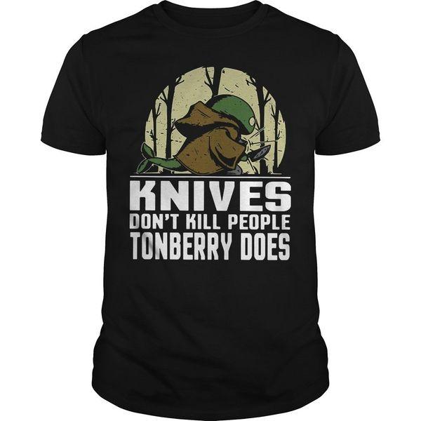 Los cuchillos no matan a la gente Camiseta Tonberry Does Camiseta adulta Camiseta de algodón de moda Camisetas top Camisetas Chino