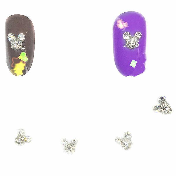 10Pcs Silver Mouse Nail Art Rhinestones Decorations 3d Charms Metal Nail Jewelry Kawaii Cartoon Diamond Manicure New Crystal