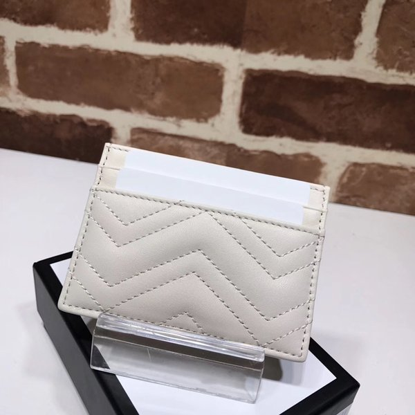 Free shipping of famous fashion brand women's purse sells classic Marmont card bag high quality leather luxury bag with serial number