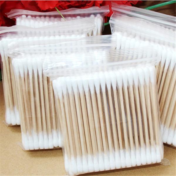Double tête bois cotons-tiges bâton bourgeons pointe pour outils de réparation de bourgeon jetables bourgeon de traitement médical de beauté