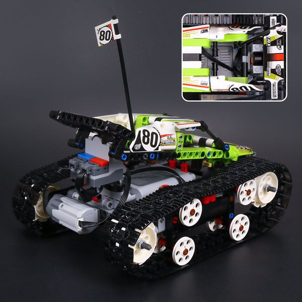 Crawler remote control car small particles puzzle assembled plug building toys