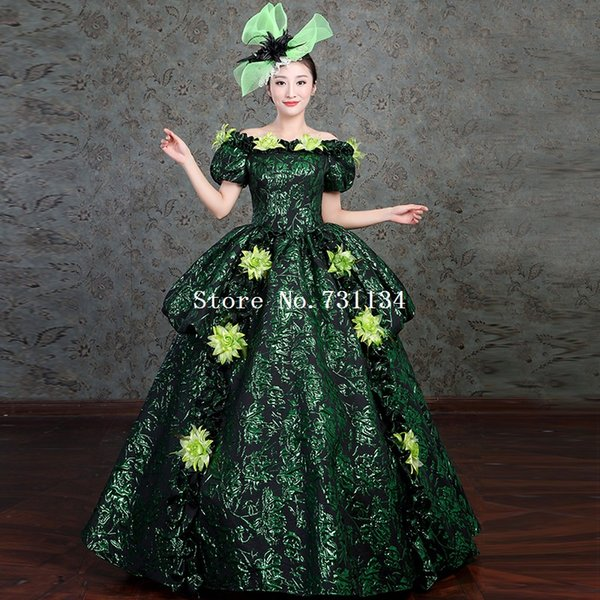 Marie Antoinette Period Dress 18th Century Gown Upscale Halloween Steampunk Costume Masquerade Gowns