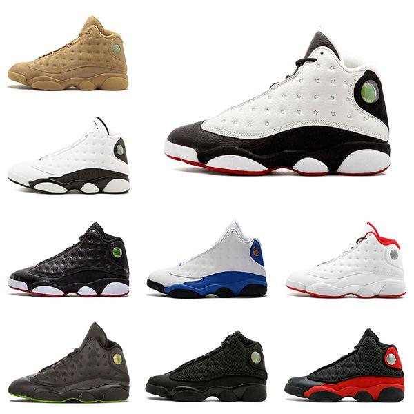 Nike air jordan 13 13s Nuevo 13s zapatos de baloncesto para hombre Pure Money Bordeaux Chicago Playoffs Hyper Royal Wheat 13 zapatillas deportivas hombre zapato deportivo tamaño 8-13