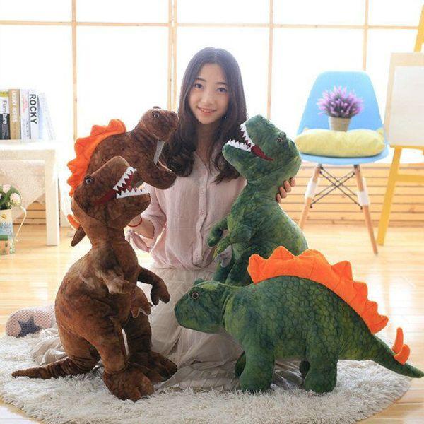 Green/brown Boy Dinosaur pillow plush toys Cute tyrannosaurus doll plush stuffed plush animals kids toy birthday gift