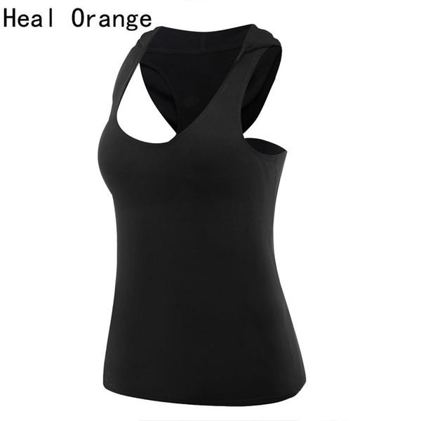 HEAL ORANGE Yoga Hoodie Pocket Yoga Tops Women Gym Top Women Training Top Fitness Running Shirt Gym Clothes Sportswear Tank Vest