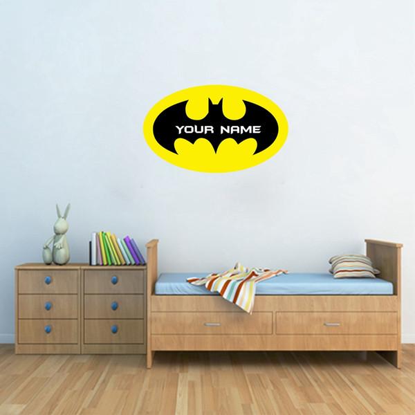 Grosshandel Batman Customized Name Vinyl Wandtattoos Personalisierte Wandaufkleber Mit Jungen Name Fur Kinderzimmer Dekoration Von Totwo3 8 91 Auf