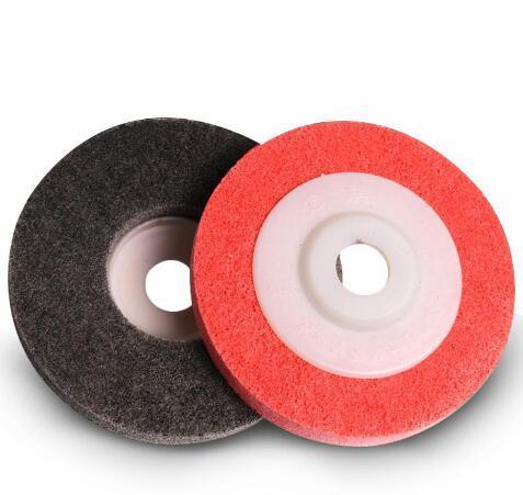 top popular Metal Polishing Wheel 100*16mm 9P Non woven Abrasive Wheel Nylon Fiber Polishing Wheel Abrasive Disc 2021