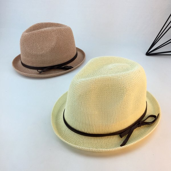 0a7f7d536f62dc 2018 Spring and Summer Caps Sun Straw Hats For Men and Women Lady straw Hat  Bowler Beach Decoration Cap