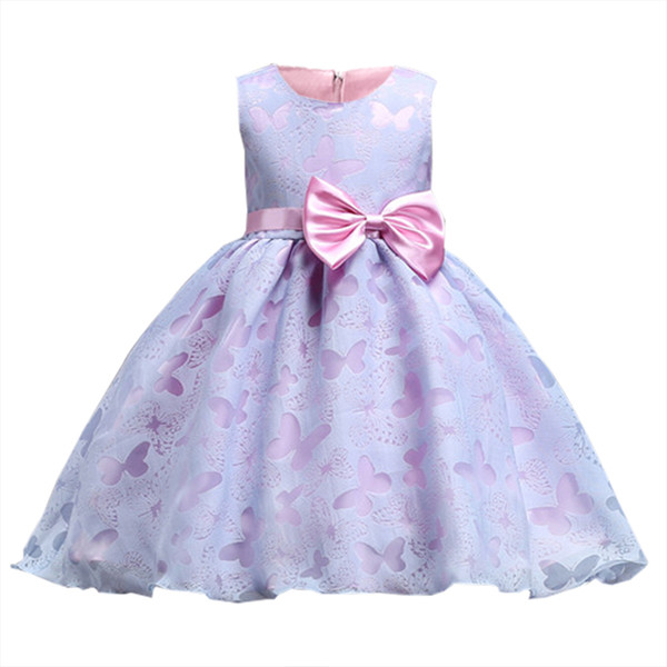 Flower Girl Dresses 2-10 Years Kids Clothes Princess Costume Tutu Gown Kid Girls Graduation Ceremony Formal Party Wedding Dress