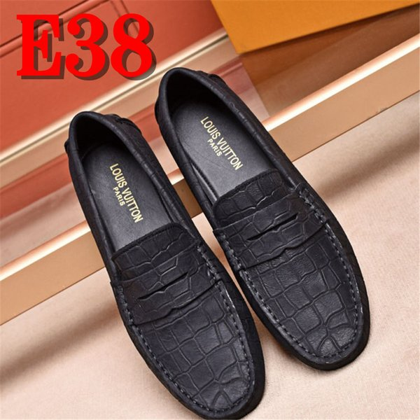 Brand Leather Mens Shoes Spring Men Loafers Men Luxury Driving Shoes Slip On Casual Men Loafer Moccasins Strappy Heels Geox Shoes From Yayute005,