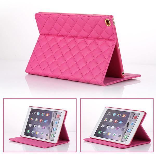 Pour iPad mini cas ipad2 3 4 téléphone poche strass rivet couronne Smart Cover avec support antichoc Dormancy pc + PU en cuir PCC075