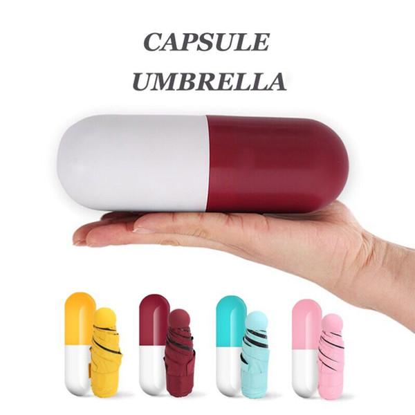 Quality Mini Pocket Umbrella Clear Men's Umbrella Windproof Folding Umbrellas Women Compact Rain
