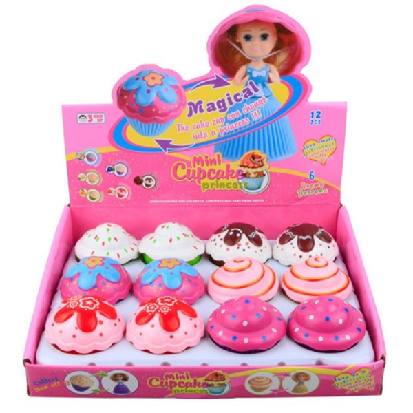1pc Mini Cartoon Lovely Cupcake Princess Doll Transformed Beautiful Cute Cake Doll Toy Girls Toys For Children New Random Colors