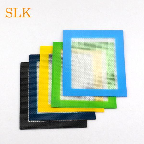 Stuoie del quadrato di stampa di abitudine di stuoia del silicone della stuoia del silicone del nero rosso verde giallo nero antiaderente i rilievi di cera di 14 * 11.5 EXW liberano il trasporto