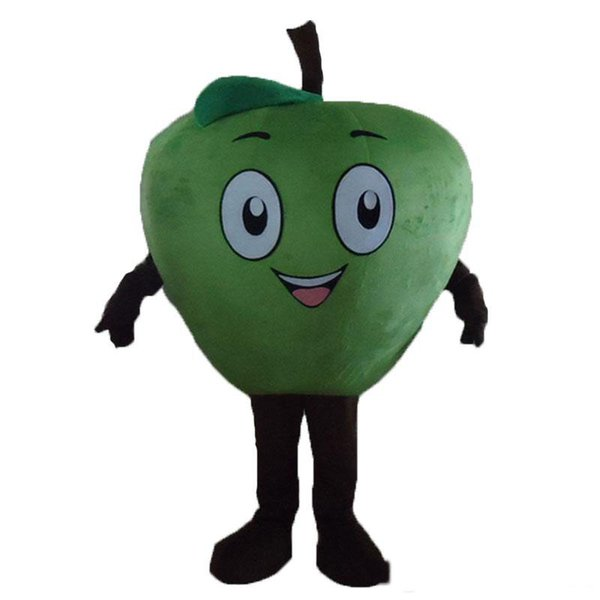 2018 Alta qualità hot Little red Apple Mascot Costume Personaggio dei cartoni animati Costume adulto Fancy Dress Costumi di carnevale di Halloween