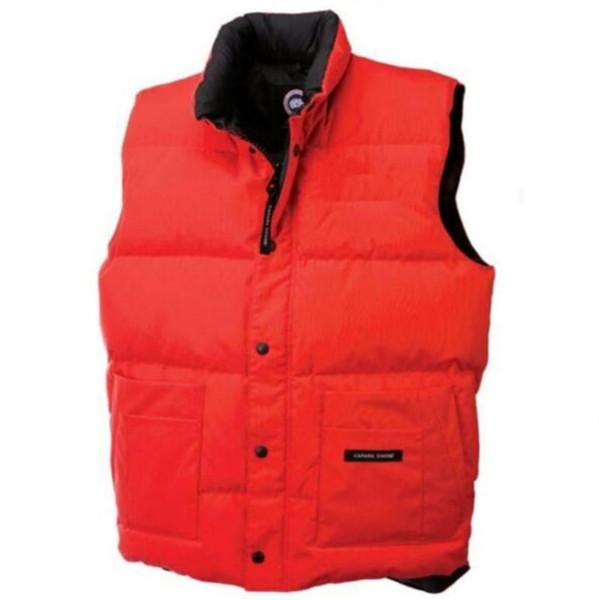 schnelles Verschiffen Marken-Winterjacke Mens-Frauen FreeStyle Weste-Gans-Weste unten Weste-unten Jacke 6 Farbe