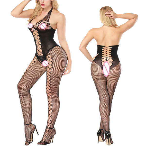 fishnet Mesh Patchwork Leggings Women Spring Polyester High Waist Lady's Legging open crotch Trousers Push Up Fitness Elasticity