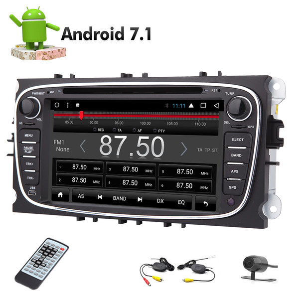 Eincar Android 7.1 8 Core Double Din Car DVD Player GPS Navigation AM FM Stereo Radio Receiver for Ford Focus 2008-2010 Autoradio