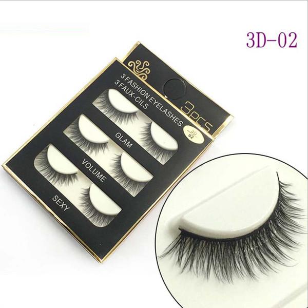 3 pairs/pack Artificial mink 3d hair permanent eyelashes extension lashes fashion fake eyelash strips beauty false lash tool