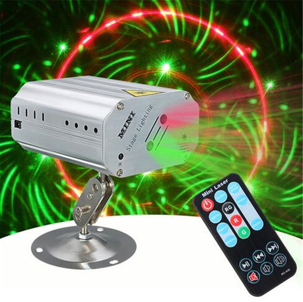 Mini LED RGB Stage Light Projector Laser Stage Lighting Effect Adjustment DJ Club Disco Party KTV Decor Lamp Bulb Voice Control