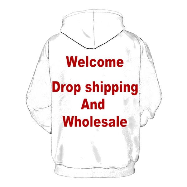 Impresión 3D Diy diseño personalizado para hombre ropa para mujer Hip Hop  sudaderas con capucha envío de la gota mayoristas proveedores para Drop  Shipper ... b5cefd8aaa1