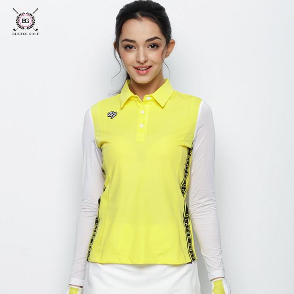 BLK TEE golf camisas de manga comprida camisa de esportes de verão protetor solar camisa de manga camisa de treinamento de golfe T SHIRTapparel senhora esportes BRANCO