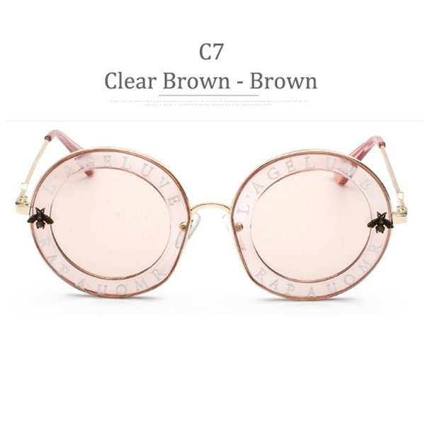 C7 Clear Brown Frame Brown Lens