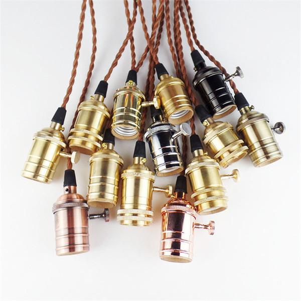 Loft American Country Retro Edison Bulbs Metal E27 Pendant Lights Vintage Industrial Pendant Lamp Fixtures Modern Kitchen Lighting