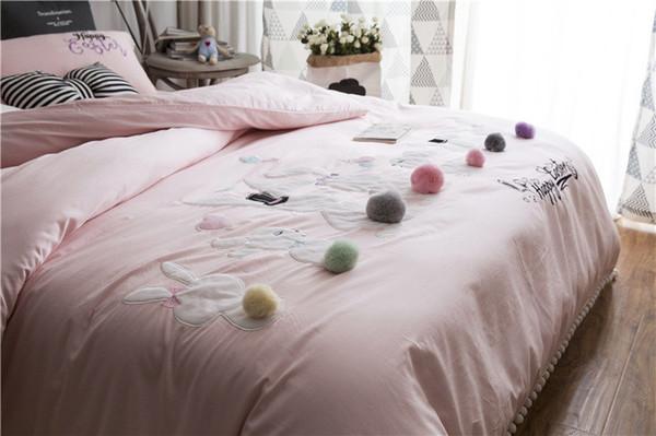 2018 ensembles de literie de mariage roi 60 s satin long coton draps de lit draps romantiques dentelle broderie housse de couette linge de lit