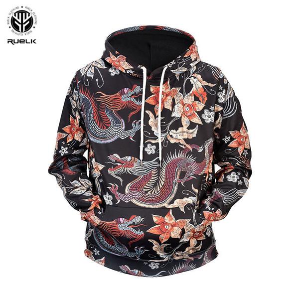 RUELK 2018 Pattern Women Men Hoodies Couples Casual Style 3D Print Hoodie Hip Hop Autumn Winter Sweatshirts Hooded Tracksuits