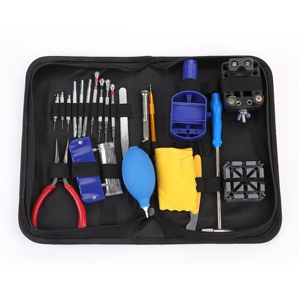 23Pcs Tool Parts Watch Case Opener Link Remover Spring Bar Watch Repair Tool Kit With Black Water Resistant Storage Bag