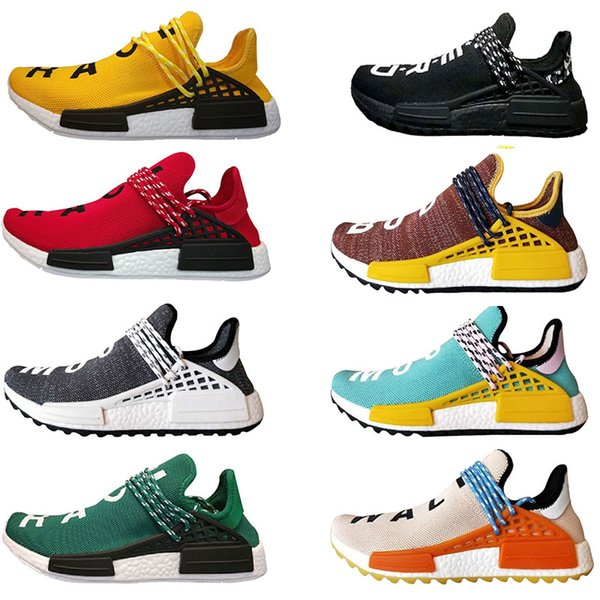 2018 Human Race Pharrell Williams Hu trail NERD Men Women Running Shoes noble ink core Black Red sports Shoes eur 36-45