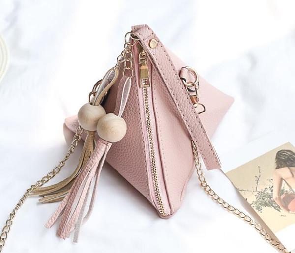 FreeFashionable yeni stil tek omuz mini çanta ile mini bir çanta ile eğimli üçgen çanta ve küçük çanta