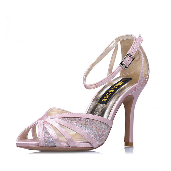 2018 high quality satin PU bridal wedding shoes for party prom top quality designer heels stiletto heel pumps for evening party prom shoes