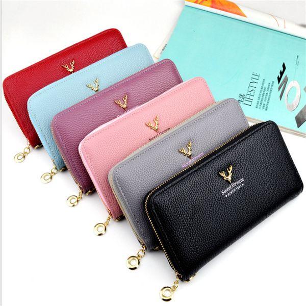 2018 red bottoms lady long wallet multicolor designer coin purse Card holder original box women classic zipper pocket
