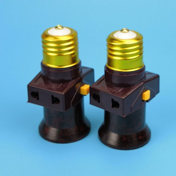 2pcs E27 socket with switch Vintage Lamp Holder socket splitter Lamp Base Led Bulb Lampholder lighting accessories 110V-240V