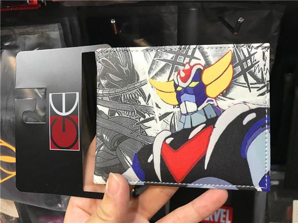 hot wallet japanese cartoon game Mazinger kids wallets china warehouse comic two fold young boy wallet