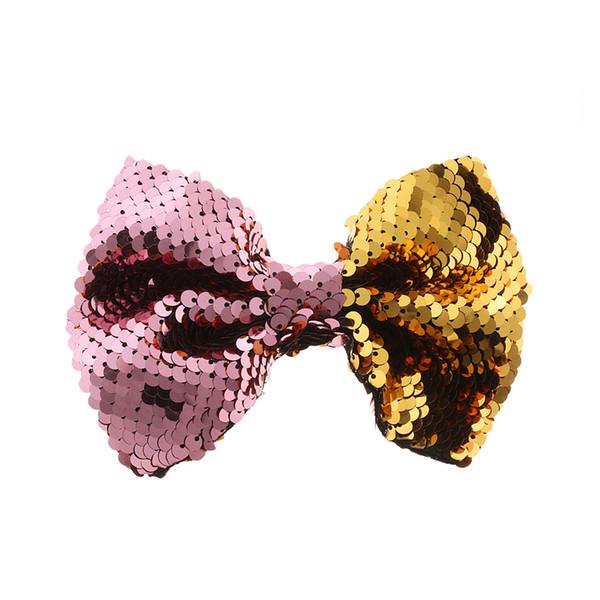 1PC New Floral Sequin Barrettes Cute Baby Girl Big Bow Hair Accessories Cute Butterfly Mermaid Hairpins Fashion Children