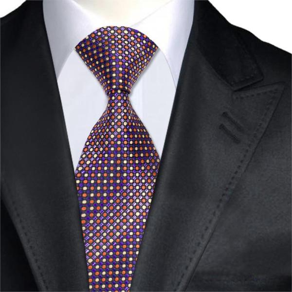 A-1457 Polka Dot Herren Krawatten 2017 Neue Design Marke hallo-tie Lila Seide Krawatten Für Männer Anzüge Hochzeit Geschäft Corbatas