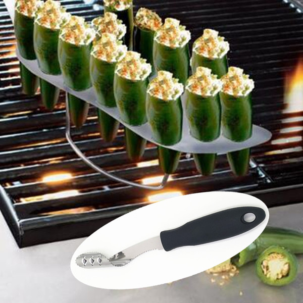 Best Of Barbecue Stainless Chili Pepper Corer Jalapeno Corer Pepper Corer 2 -Pack Kitchen Cooking Tools