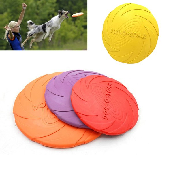 Pet Dog Flying Disc Tooth Resistant Training Fetch Toy Play Frisbee High Quality New Selling Hottest Dogs Toys Funny Play Balls