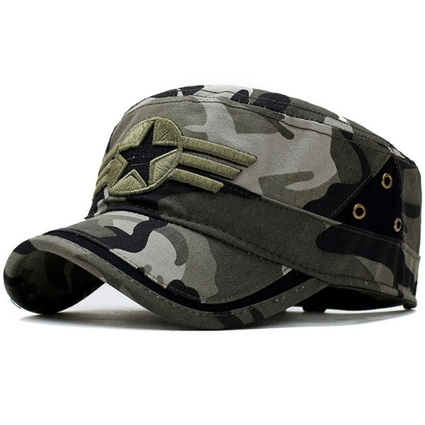Men's Tactical Cap Army SWAT Camo Combat Snapback Hat Outdoor Casual Camping Camouflage Bone Baseball Cap Adjustable