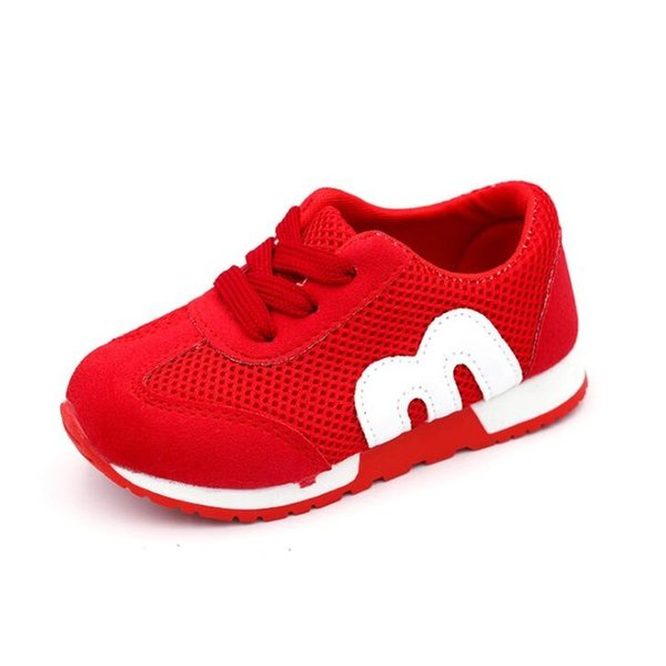 M New Fashion Spring Summer lace-up Children Shoes Mesh Boys Girls Sandals Breathable Cut-outs Kids Sneakers Unisex running shoes