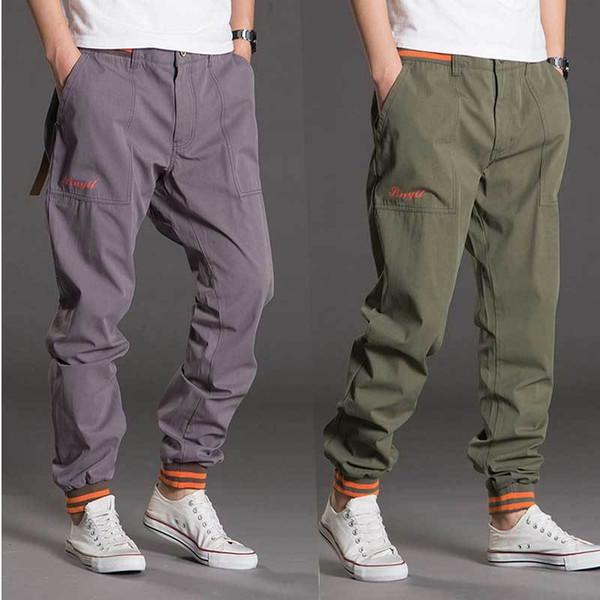 Nueva Moda Hip Hop Mens Pantalones Casual Joggers Loose Harem Cargo Pants Ropa masculina de algodón más el tamaño