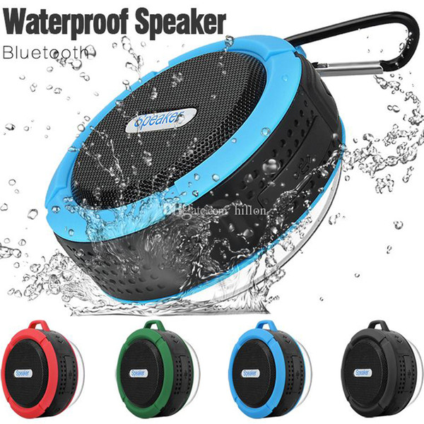 top popular Waterproof Bluetooth Speaker Shower Speaker C6 with Strong Driver Long Battery Life and Mic and Removable Suction Cup in Retail Package 2019
