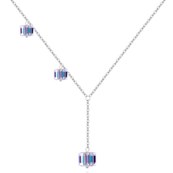 b0155fb2bf3db Wholesale High Quality Necklace Square Crystal From Swarovski Elements  Beads Pendant Necklace For Women Fashion Jewelry Girl Gift 28794 Mens  Pendant ...