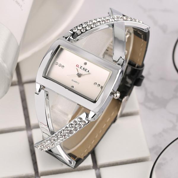2018 Fashion Bangle Watch Simple Elegant Dress Clock Ribbon Band Strap Quartz Wrist Watches Bracelet Watch for Women